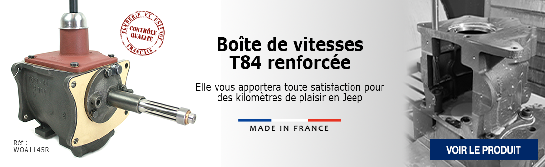 Boîte de vitesses T84 renforcée